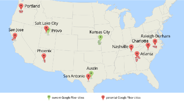 New Google Fiber cities