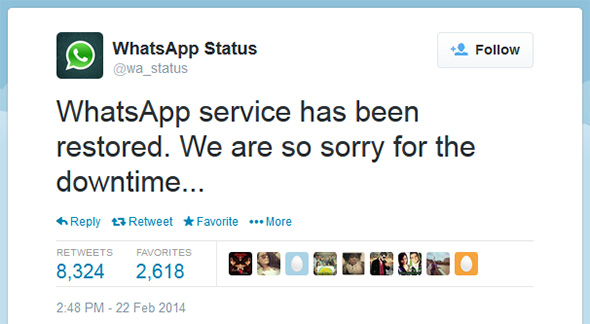 Whatsapp Takes A Knee And Goes Down Just Days After 19