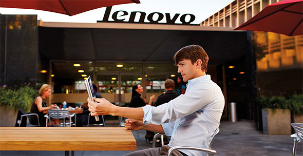 Ashton Kutcher at Lenovo