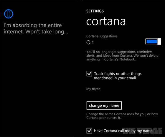 Microsoft Windows Phone Cortana