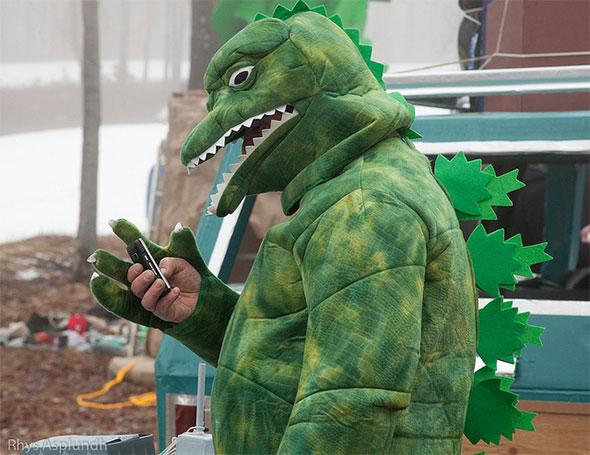 Dinosaur Texting