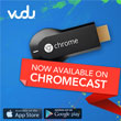 Chromecast Levels Up With VUDU, Crackle, And Rdio Apps