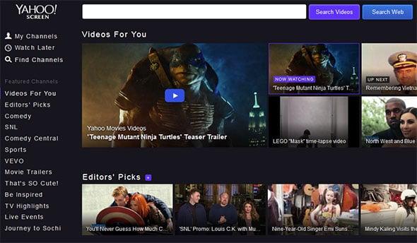 Yahoo video service