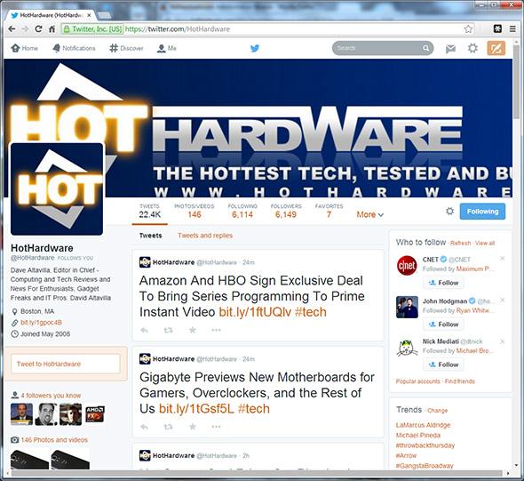 Twitter HotHardware