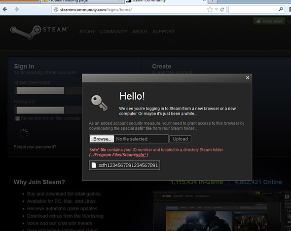 Steam Guard phishing