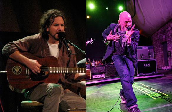 Eddie Vedder and Michael Stipe