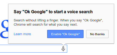 google chrome voice search