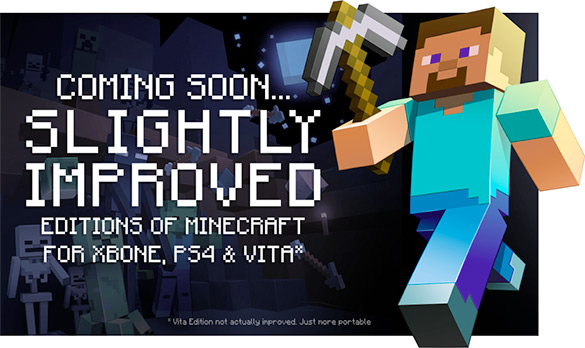 Minecraft To Arrive On Xbox One, PS4 and PS Vita In August | HotHardware