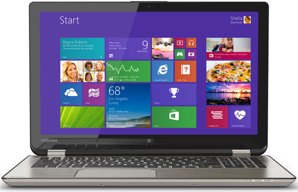 The Toshiba Satellite Radius laptop with an Intel Core-i7 processor