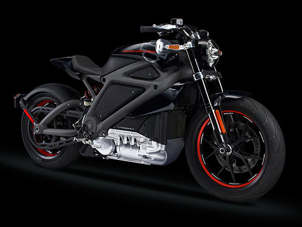 Harley-Davidson Electric Motorocycle Side