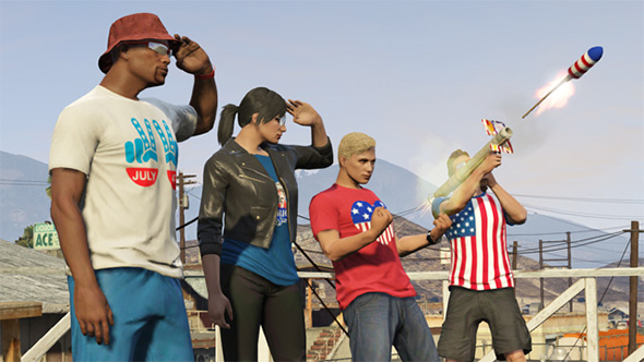 Rockstar games updates grand theft auto v with patriotic independence