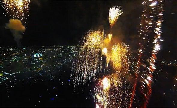 fireworks drone