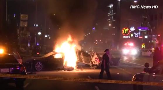 Tesla Model S accident