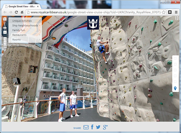 Google Street View Takes You On A Royal Caribbean Allure ...