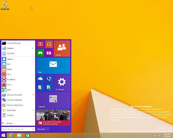 Windows 9 Start