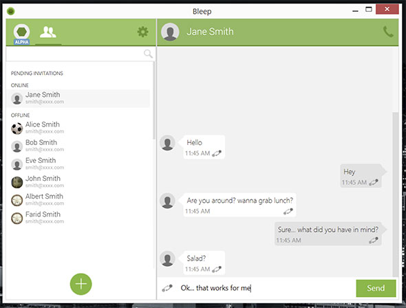 The BitTorrent Bleep chat service uses distributed technology instead of servers to make your data harder to pinpoint.