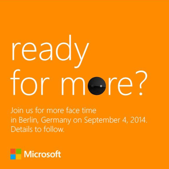 The IFA invite seems to be promoting Microsoft's upcoming Nokia Lumia smartphones.