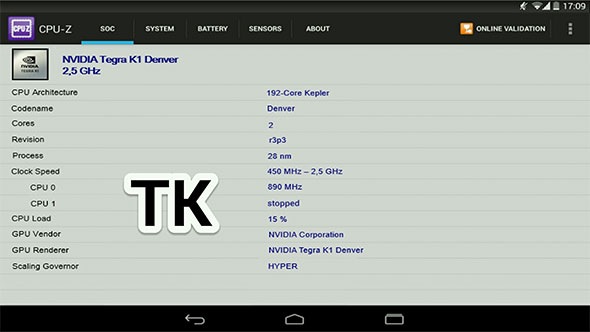 Nexus 9 CPU-Z