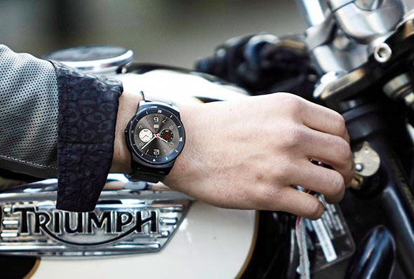 LG G Watch R Motorcycle