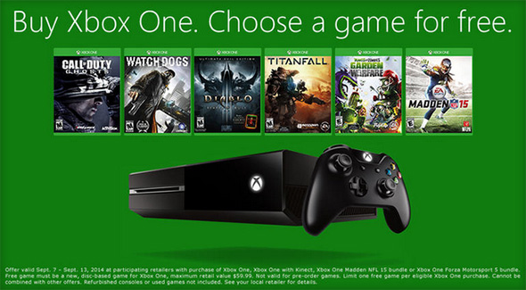 Xbox One Game Promotion