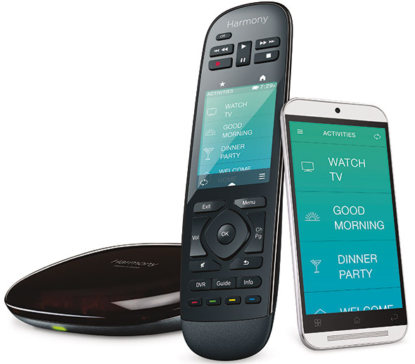Logitech has several remotes for its Logitech Harmony Home Hub, including the Harmony Home Ultimate.