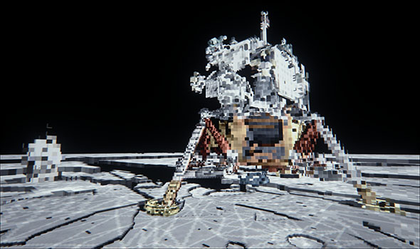 NVIDIA Apollo Mission Recreation - Voxelized Scene