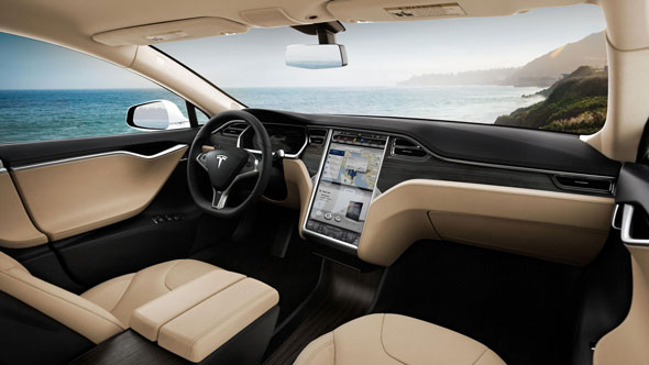 The software update for the Tesla Model S electric car adds plenty of new features to the car's operating system.