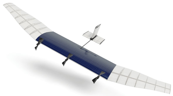 Facebook is planning unmanned drones like this one to fly above normal air traffic and beam Internet connectivity to areas of the Earth that don't have it now.