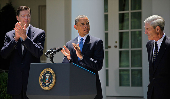 President Barack Obama and FBI Directors