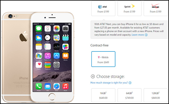 iPhone 6 Order Page