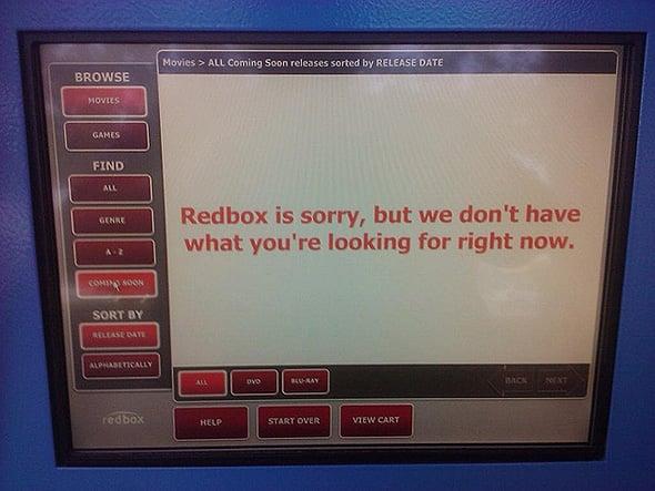 Redbox Error