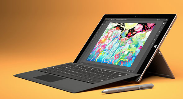 Microsoft Surface Pro 3 with Adobe Photoshop and Illustrator