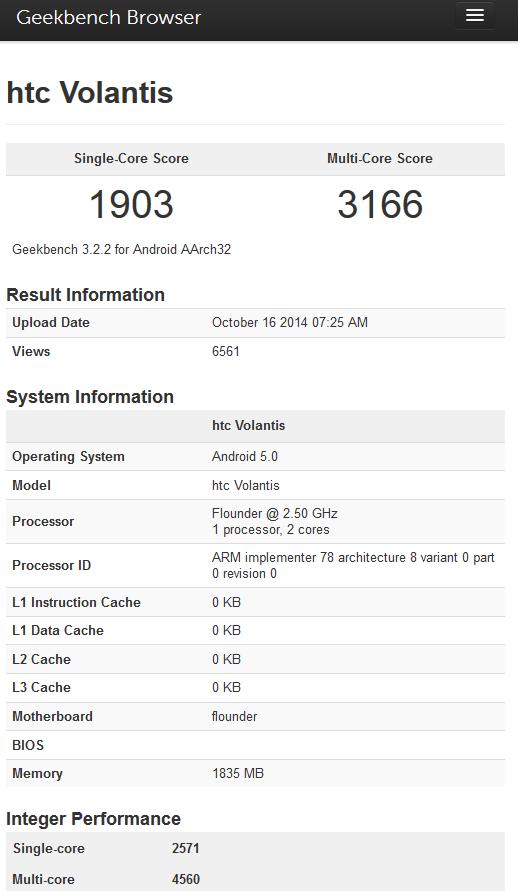 Nexus 9 Tegra K1 Dual-Denver Benchmarks