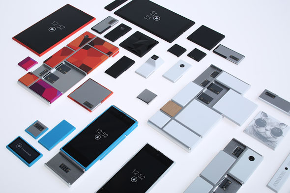 Project Ara, the modular phone, which Google is using to introduce new types of hardware, including health tech like a pulse oximeter.
