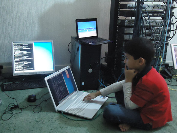 Ayan Qureshi on Laptop