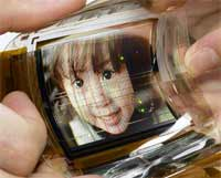 Sony Shows Off Razor-Thin TV Screen