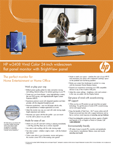 "HP w2408 Vivid-Color 24"" Widescreen LCD"