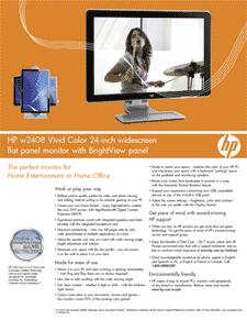 "HP w2408 Vivid-Color 24"" Widescreen LCD"