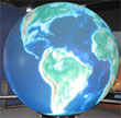 Microsoft's Multi-touch Interface on a Globe