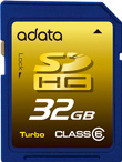 A-DATA Debuts 32GB Class 6 SDHC Card