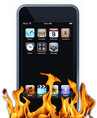 iPod Touch on fire