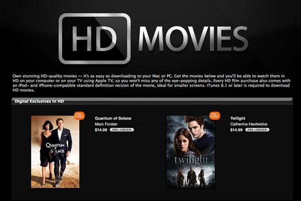 itunes adds highdef movie downloads hothardware