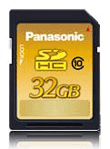 Panasonic Introduces Class 10 SDHC Memory Cards