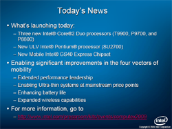 Computex: Intel Debuts New Core 2 Duo, ULV CPUs
