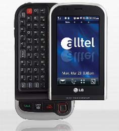 alltel snags lg tritan touchscreen phone hothardware rh hothardware com